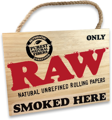 RAW Smoked Here Sign