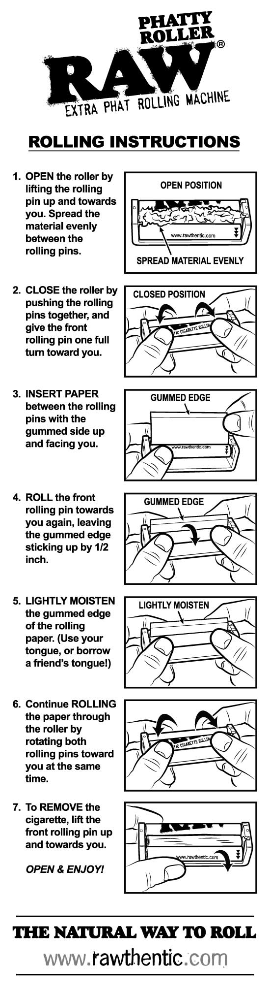 RAW Phatty Roller Rolling Machine Instructions