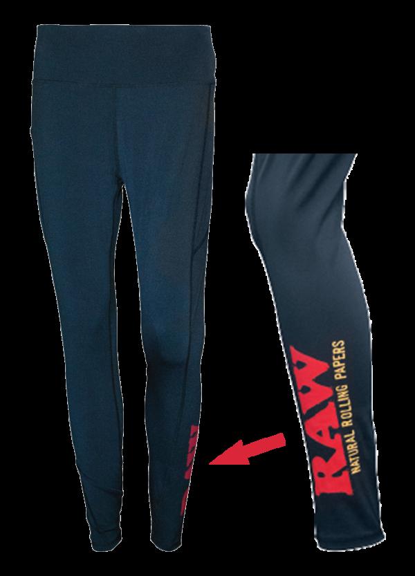 RAW High Waisted Leggings Side Logo Detail